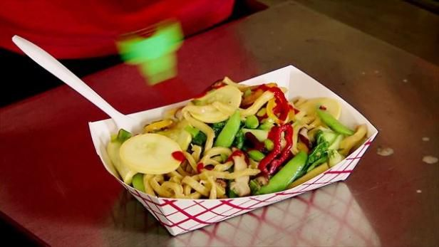 Food truck or not, Guerrilla Street Food even serves up homemade noodles.