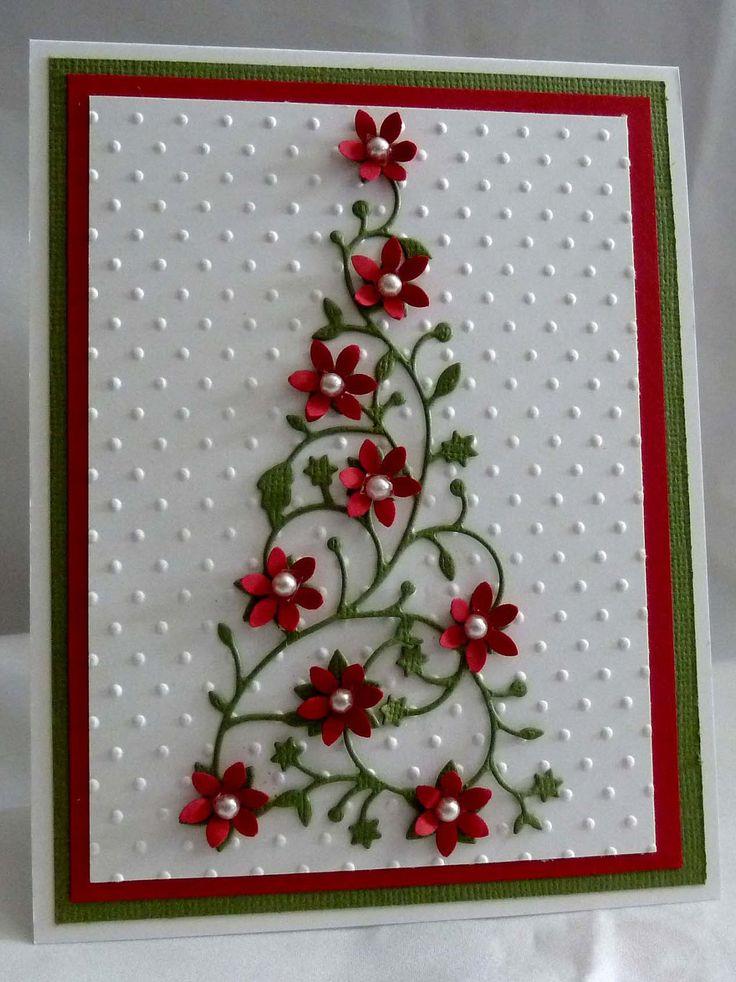 Flower Christmas Tree Card. $6.49, via Etsy.