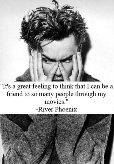 è una grande sensazione pensare che tante persone possano essere mie amiche attraverso i miei film