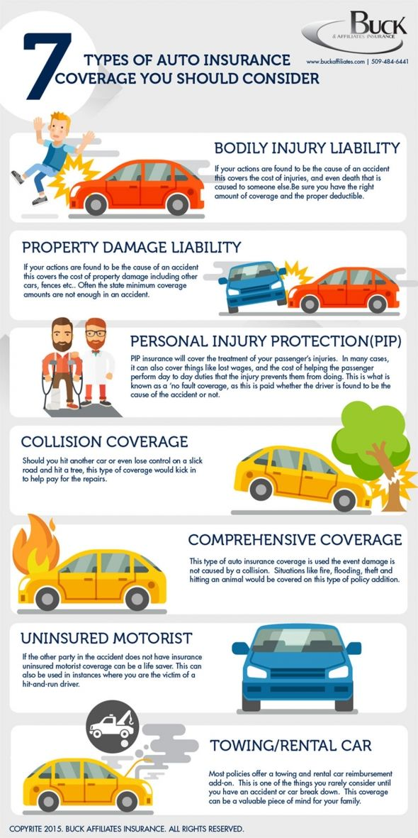 7 Types Of Car Insurance You Should Consider Infographic Cheap