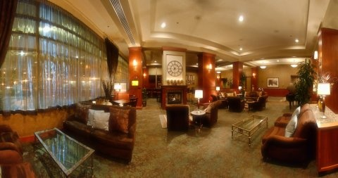 The Lobby at The Grove Hotel.
