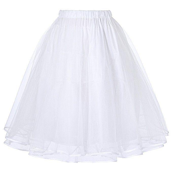 50s Rockabilly Tutu Skirt Petticoat Tutu Skirt Weiss M BP229-2: Amazon.de: Bekleidung