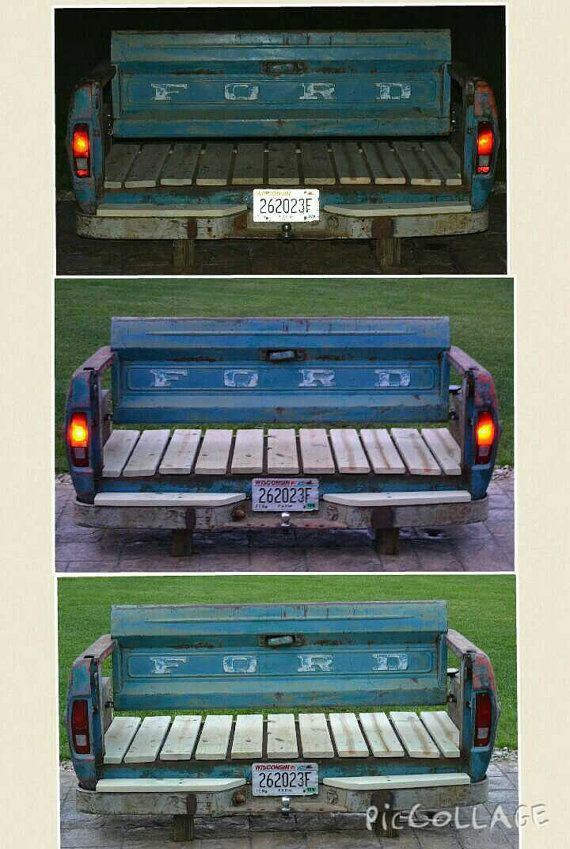 Ford F100 Bumpside Truck Box Tailgate Bench by TailgateGuy on Etsy