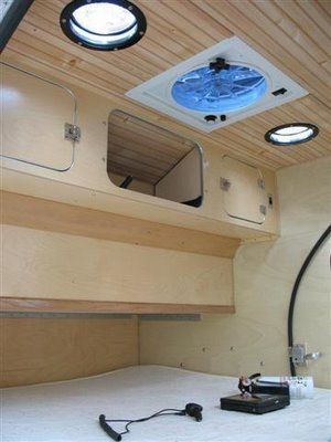 Teardrop Trailer: yacht deck plate portholes for windows that can be opened.
