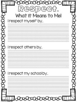 Respect Activity Pack by Proud to be Primary | Teachers Pay Teachers                                                                                                                                                                                 More