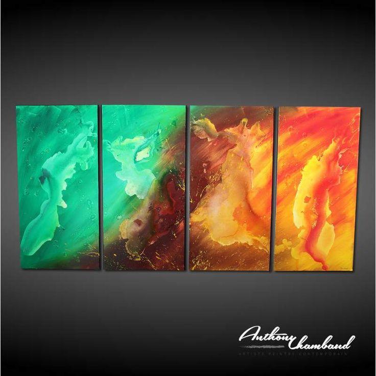 Les 172 meilleures images du tableau peinture abstraite artiste peintre anthony chambaud sur - Peinture abstraite coloree ...