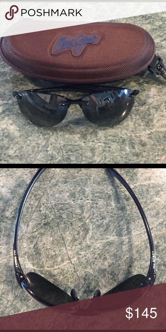 Maui Jim sunglasses Black Maui Jim sport sunglasses with brown case Maui Jim Accessories Sunglasses