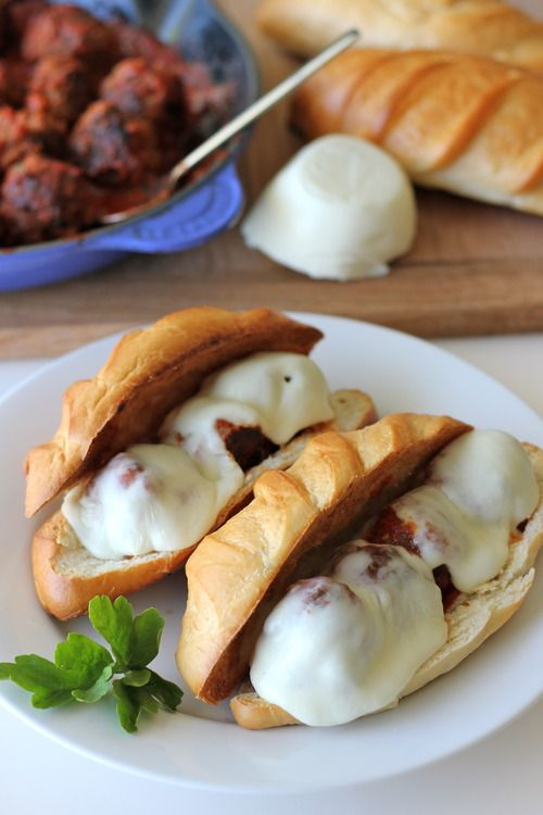 Italian Meatball Sandwiches..I will be making these for Chad as soon as he's off his dietary restrictions!