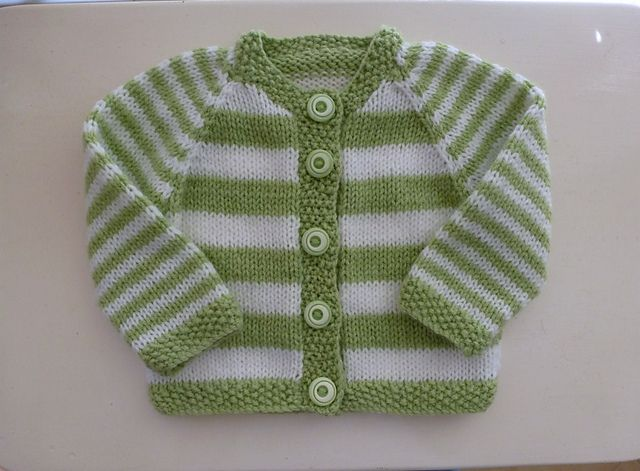 Lovely stripped cardigan from Ravelry