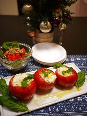 クリスマスに☆モッツァレラチーズとトマトのオーブン焼き |レシピブログ