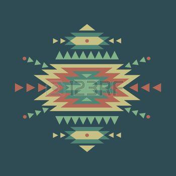 art amÉrindien: Vecteur coloré motif ethnique décoratif