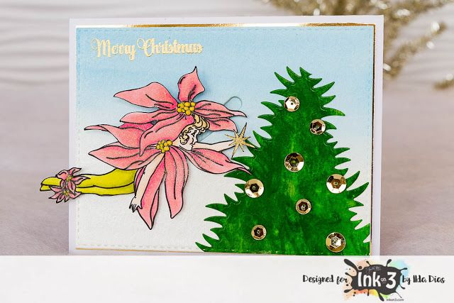 Fairy Christmas Slider Cards for Ink On 3