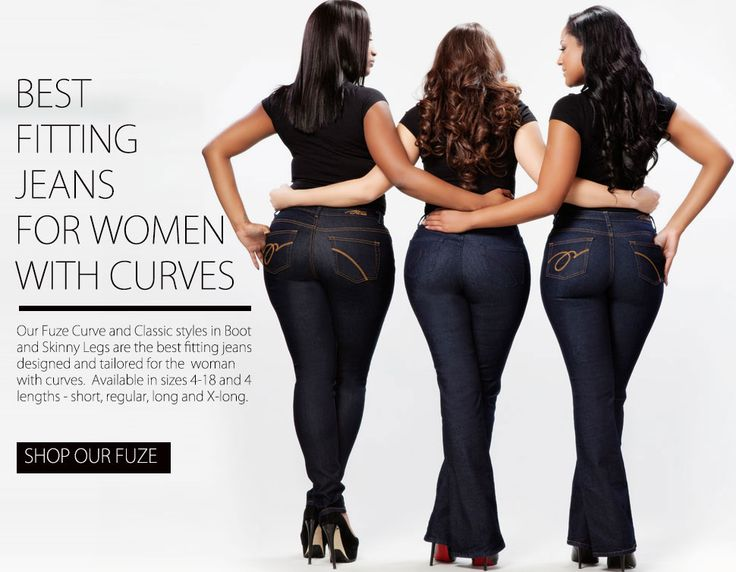 These are the first jeans I have tried on that fit in two years of trying to buy jeans!!!   PZI Jeans for Curvy Women