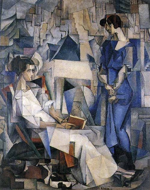 Diego Rivera, Zwei Frauen, 1914 / Repin from Pinterest