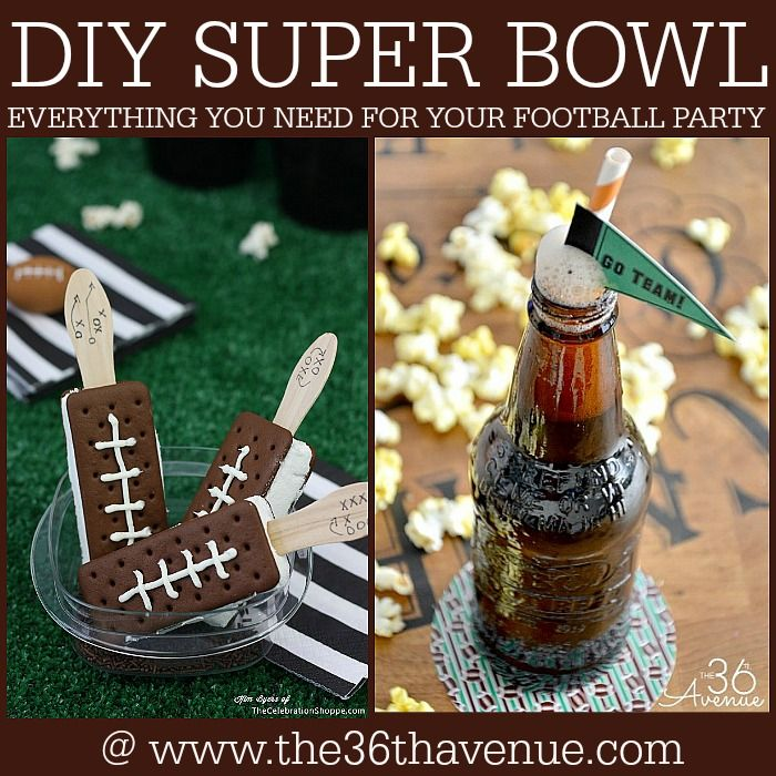 Super Bowl Party Ideas over at the36thavenue.com Pin it now and make them later!