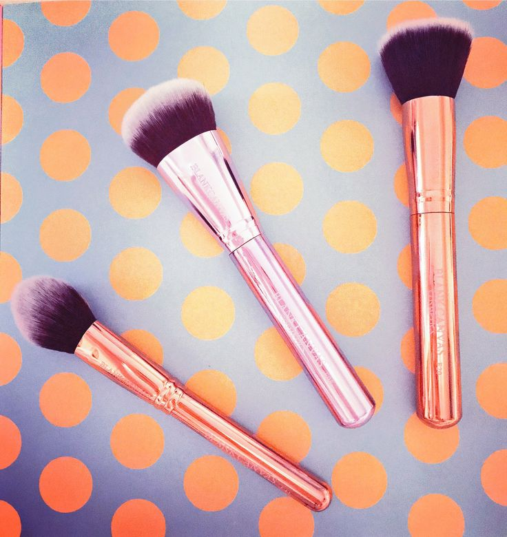 Blank canvas cosmetics makeup brushes