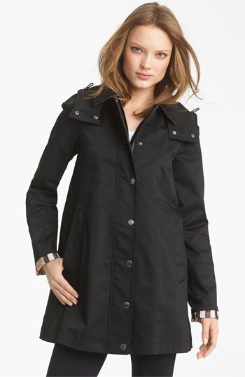 Burberry Brit Burberry Brit 'Bowpark' Raincoat with Liner available at #Nordstrom