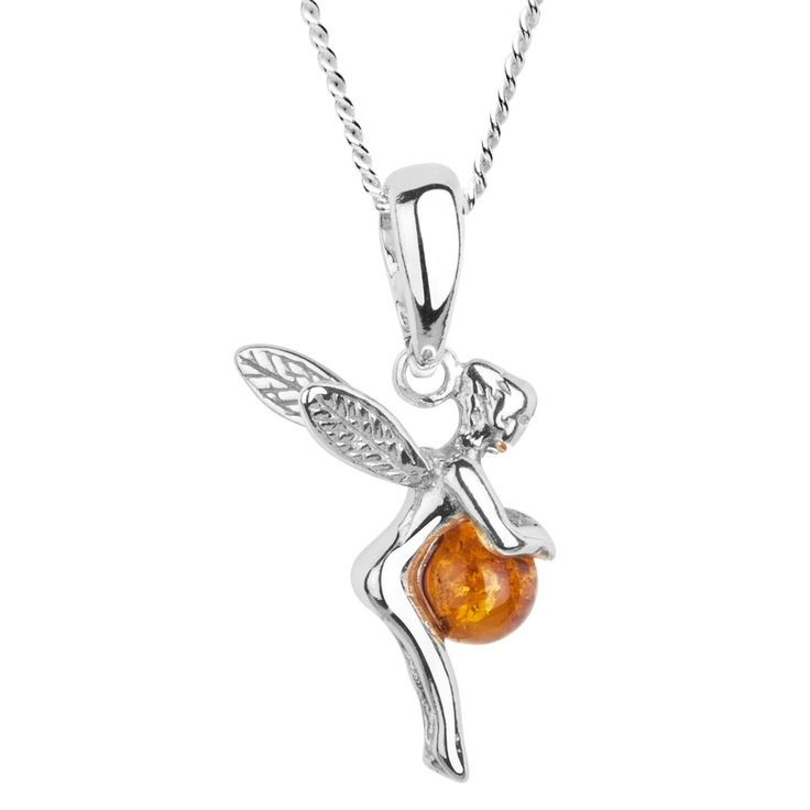 In Collections – 241A200060890 – Collier avec pendentif Femme – Argent 925/1000 – ambre from amazon.fr