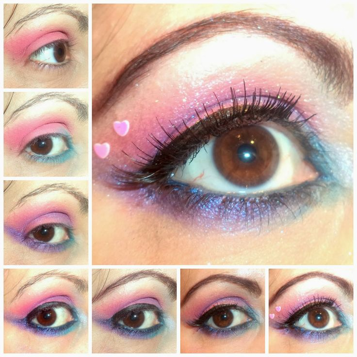 Beauty and the Mist - everything about beauty: Valentine's Day Inspired Eye Make up in Pink, Purple, Blue tones