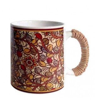 Flower Kalamkari Mug