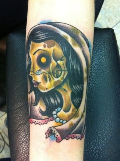 corpse bride, Merlin's tattooing in Dover by Mr Adam Chandler
