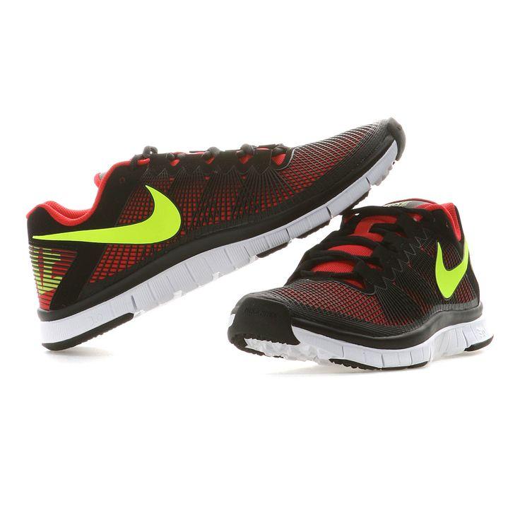 Nike   NIKE FREE TRAINER 3.0 Herren   hyper red-volt black   http: