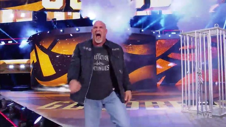 HE'S HERE... WWE 2K17's Goldberg, the man who BEAT Brock Lesnar in one minute and twenty-six seconds, has ARRIVED to The Kevin Owens Show on WWE Raw!