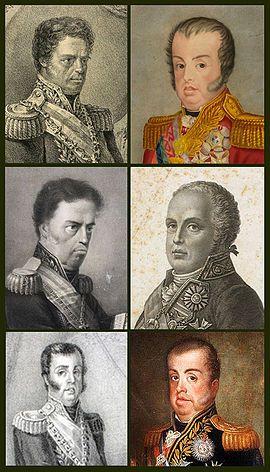 Dom João retratado por vários artistas, mostrando a diversidade em suas representações