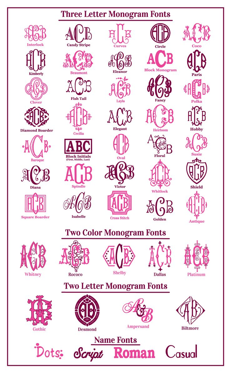 Monogram Fonts                                                                                                                                                                                 More