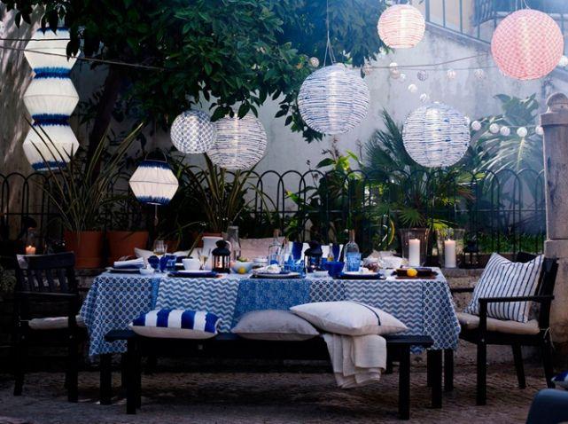 Attraktive Dekoration Dekor Campagne Terrasse