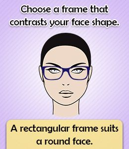 Tip to choose eyeglass frame for round face