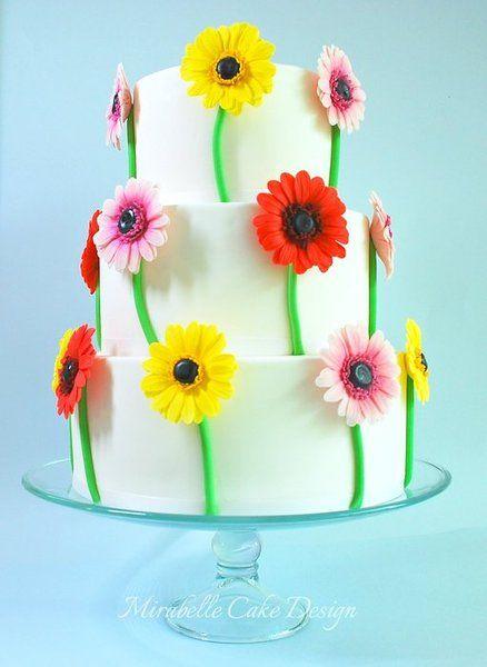 Aster/Gerbera cake