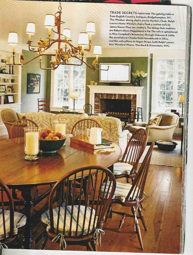 Style #329 Trade Secrets: Furniture The Gateleg Table Is From English ...  English Country HomesOld ...