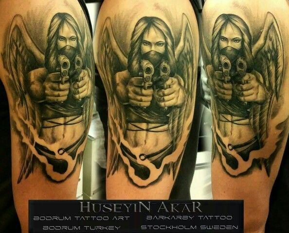 black angel tattoo,black and grey tattoo, bodrum,bodrum tattoo art,art by hüseyin akar,melek dövmesi,bodrumdövme, bodrumtattoohüseyinakar,erkekdövmemodelleri