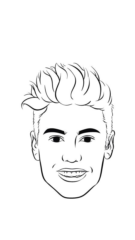 how to draw justin bieber u2019s mugshot in 8 easy steps