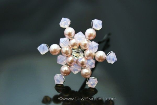 Swarovski snowflake hair pin