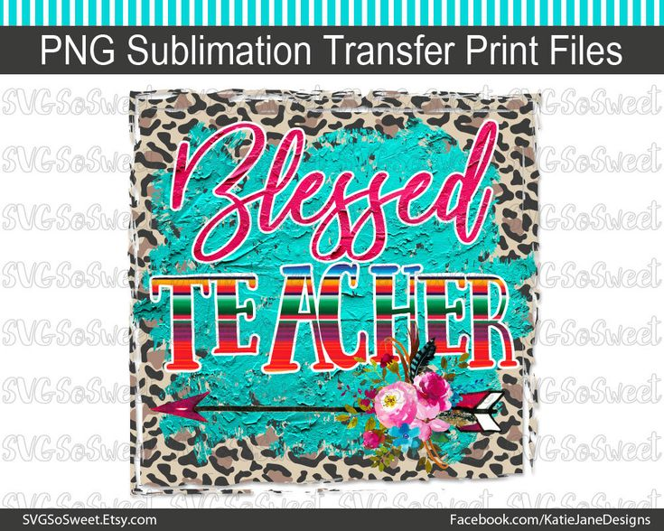 Blessed Teacher Teacher Clipart Leopard Print Boho