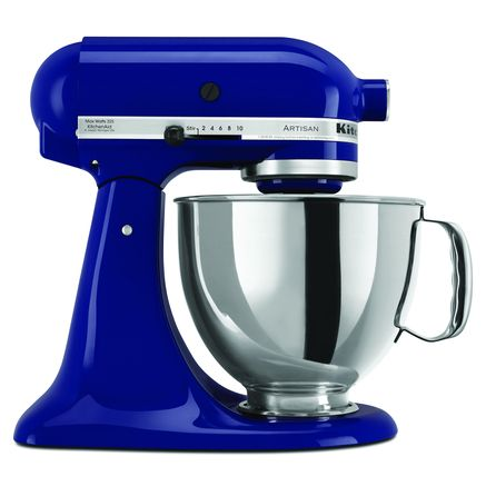 Here's what my new mixer looks like. Matches all the blue glass I have in my windows!  Love that blue!