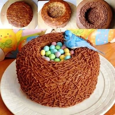 Beautiful Bird Nest Cake Recipe
