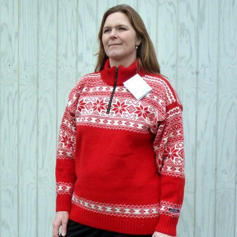 Norwool striktrøje ren uld