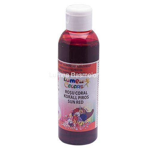 Colorant alimentar pentru aerograf Lumea Basmelor rosu coral decorațiuni pentru…