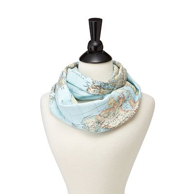 AROUND THE WORLD GEOGRAPHY SCARF-uncommon goods