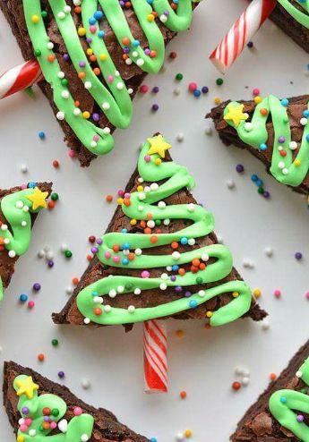 Brownie kerstboom