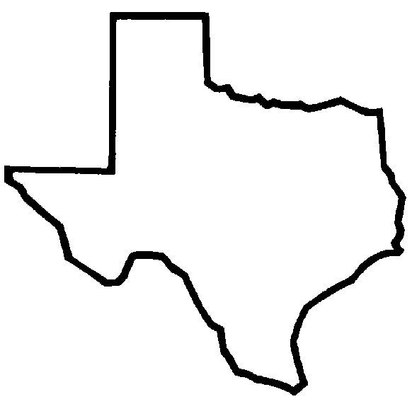 Texas outline silhouette - somewhere small for if I ever move out of state.