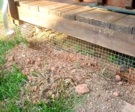 Fence Out Digging Animals With L Footer Style Fencing