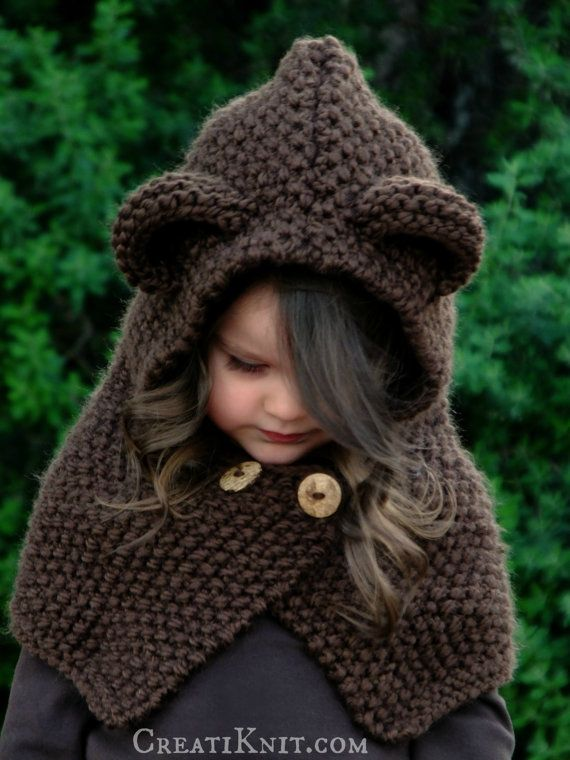 The Briar Bear Cowl Knitting Pattern Baby Toddler by CreatiKnit