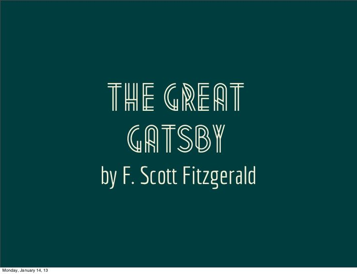 introduction-to-the-great-gatsby by Michael Del Muro via Slideshare