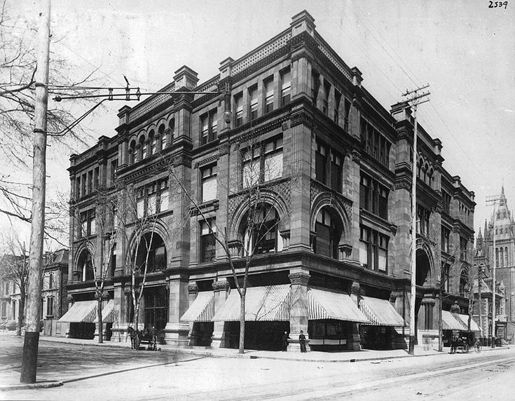 Morgan's Department Store on St Catherine Street, in Montreal (circa 1890). It would eventually become The Bay. Photo from The McCord Museum.