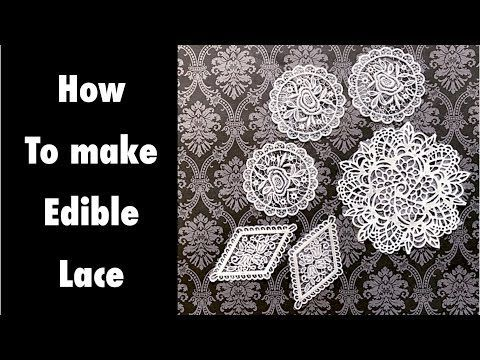 How-To Make Cake Lace Using Three Different Techniques - YouTube