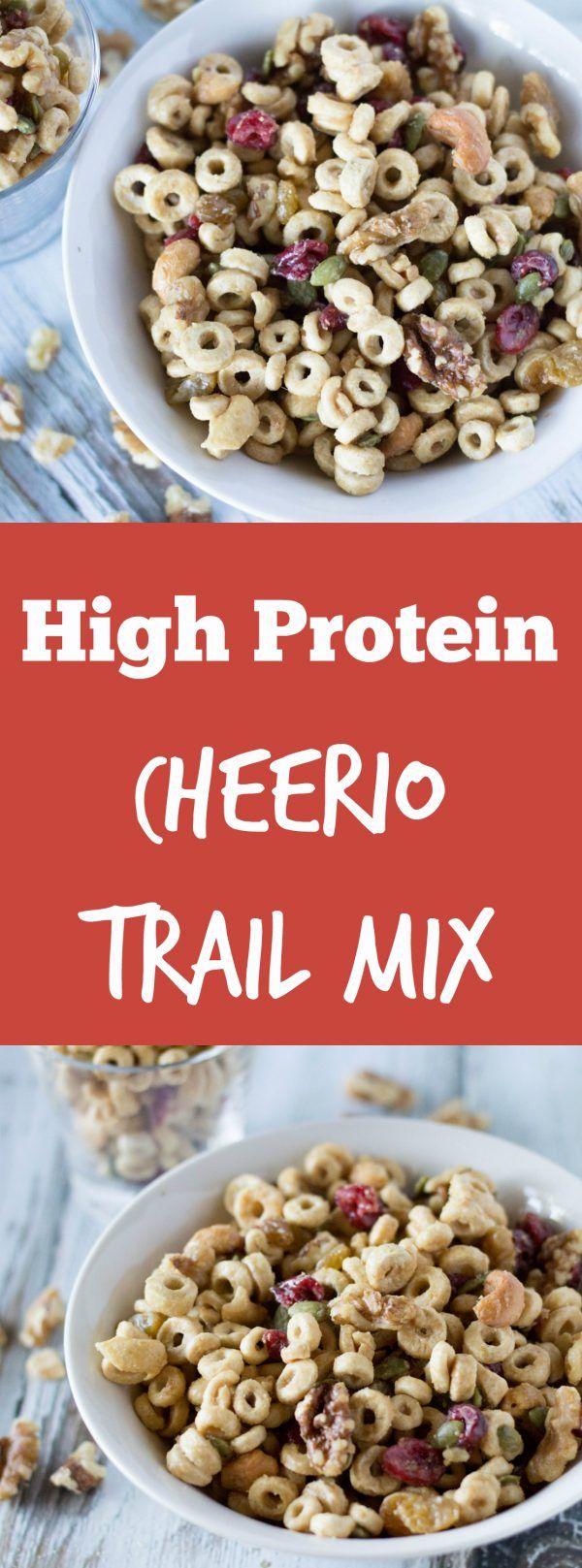 High Protein Cheerio Trail Mix |Krollskorner.com